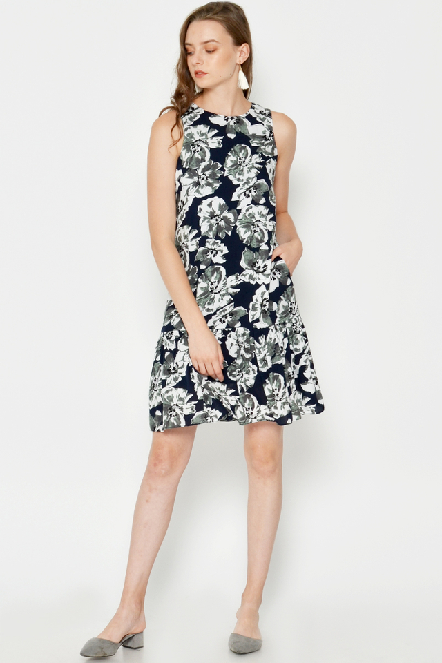 ADELA FLORAL DROPWAIST DRESS
