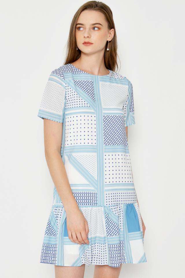 GIGI GEOMETRIC DROPWAIST DRESS