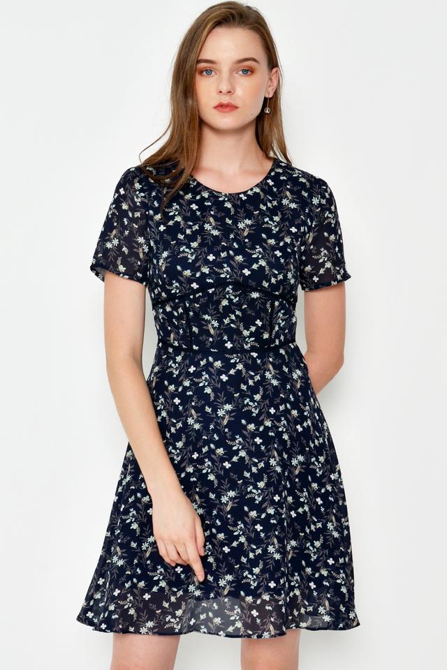 MEKLIT FLORAL FLARE DRESS