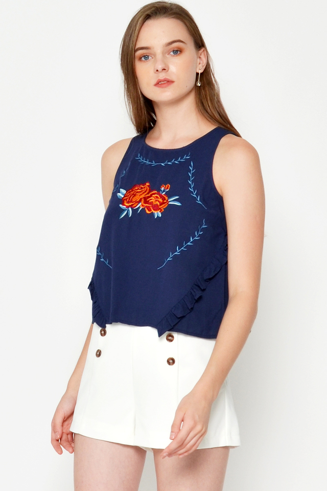SHELENA ROSES EMBROIDERY TOP