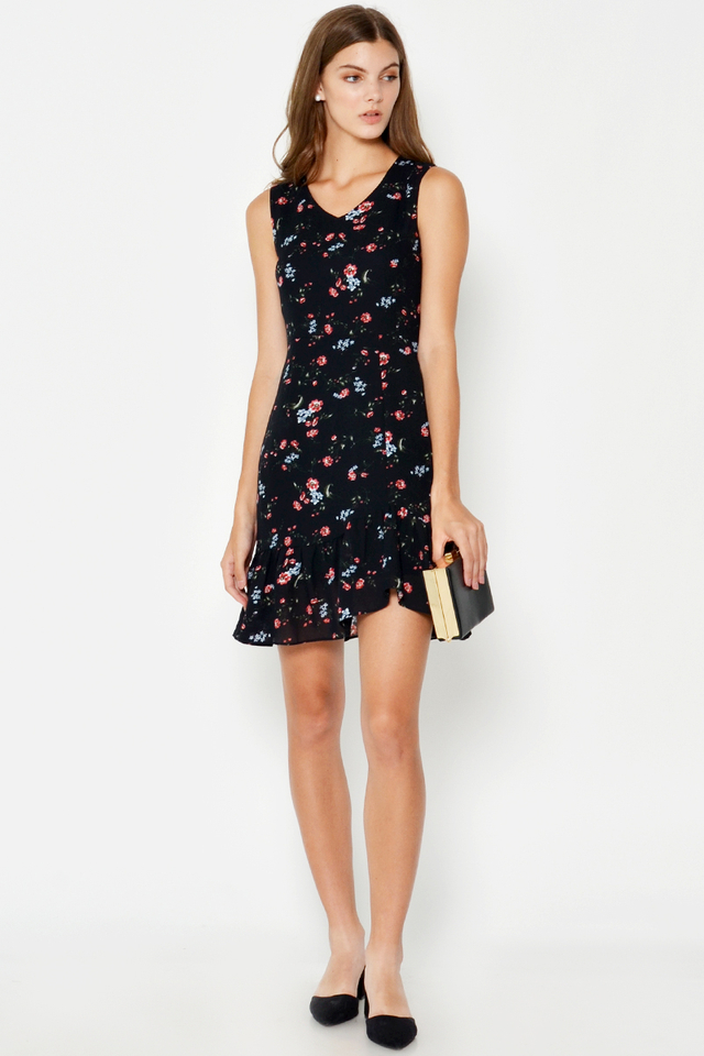ELOISA FLORAL FLOUNCE DRESS