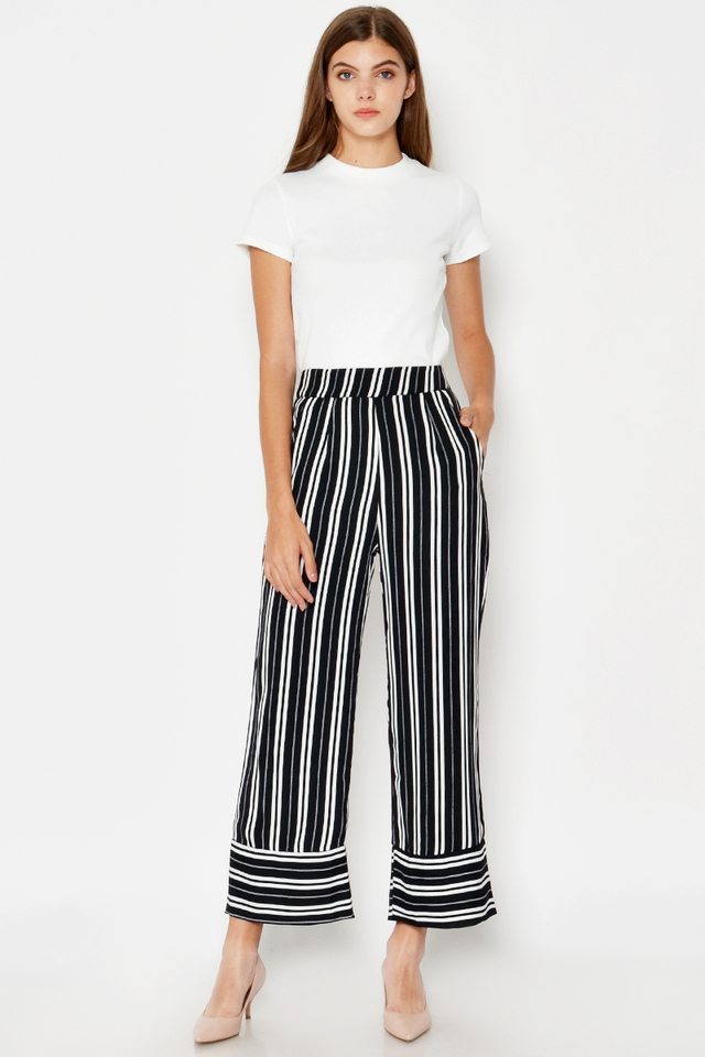KARLIO STRIPED PANTS