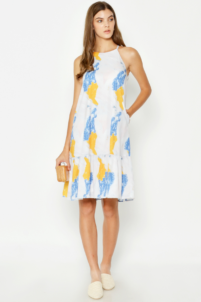 RAYLIE WATERCOLOUR DROPWAIST DRESS