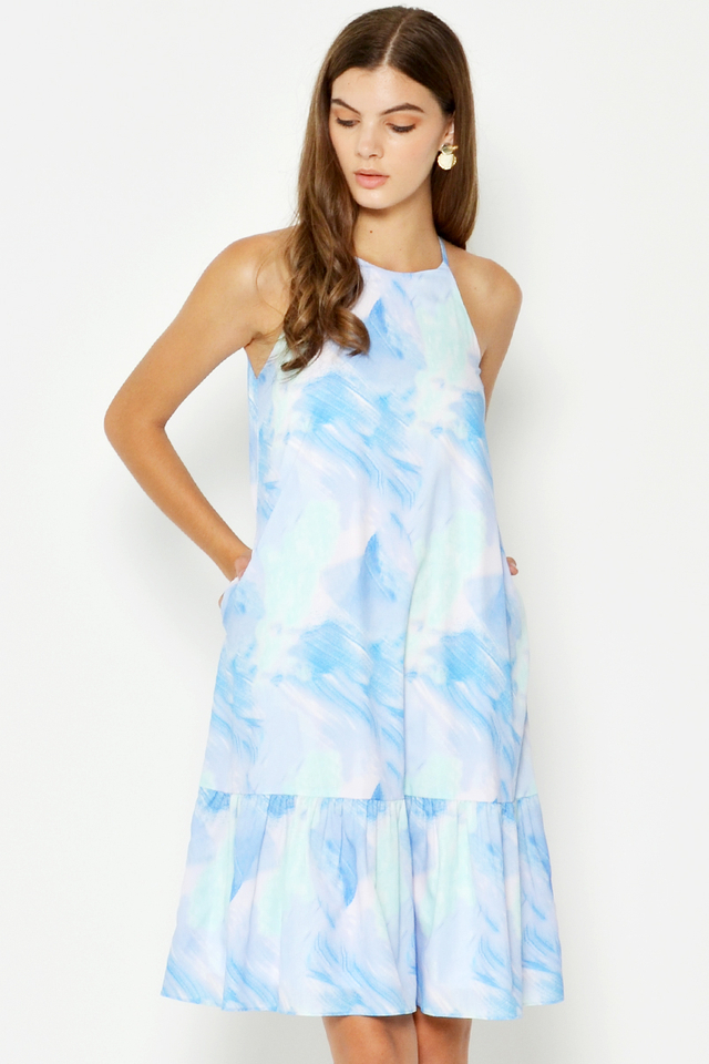RAYLIE WATERCOLOUR DROPWAIST DRESS