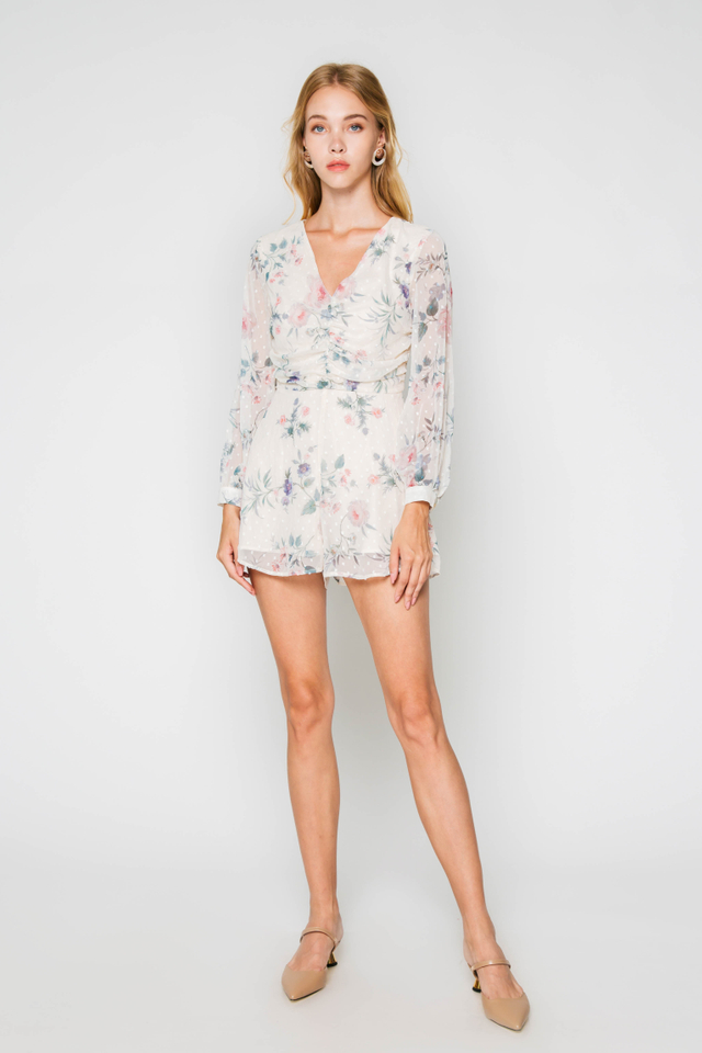 AVA FLORAL PLAYSUIT