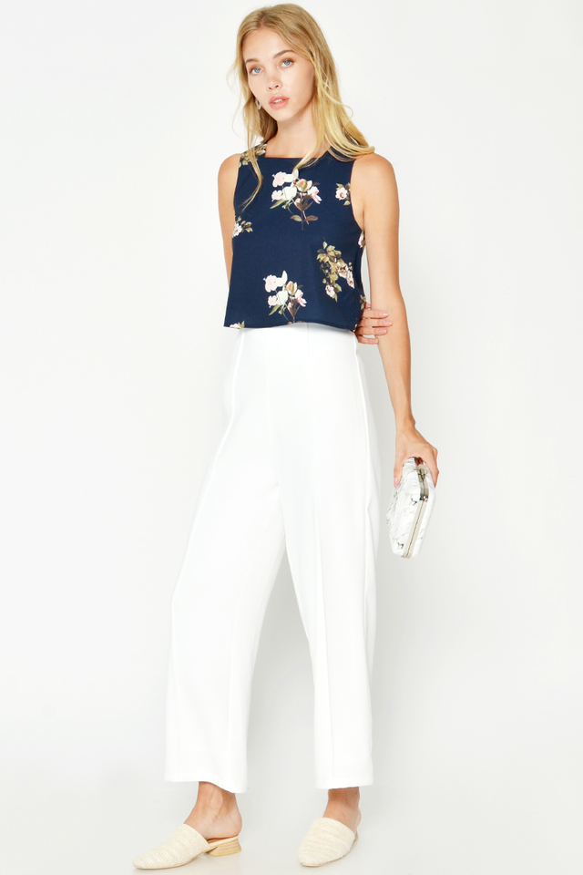 EMMIE SQUARE NECK FLORAL TOP