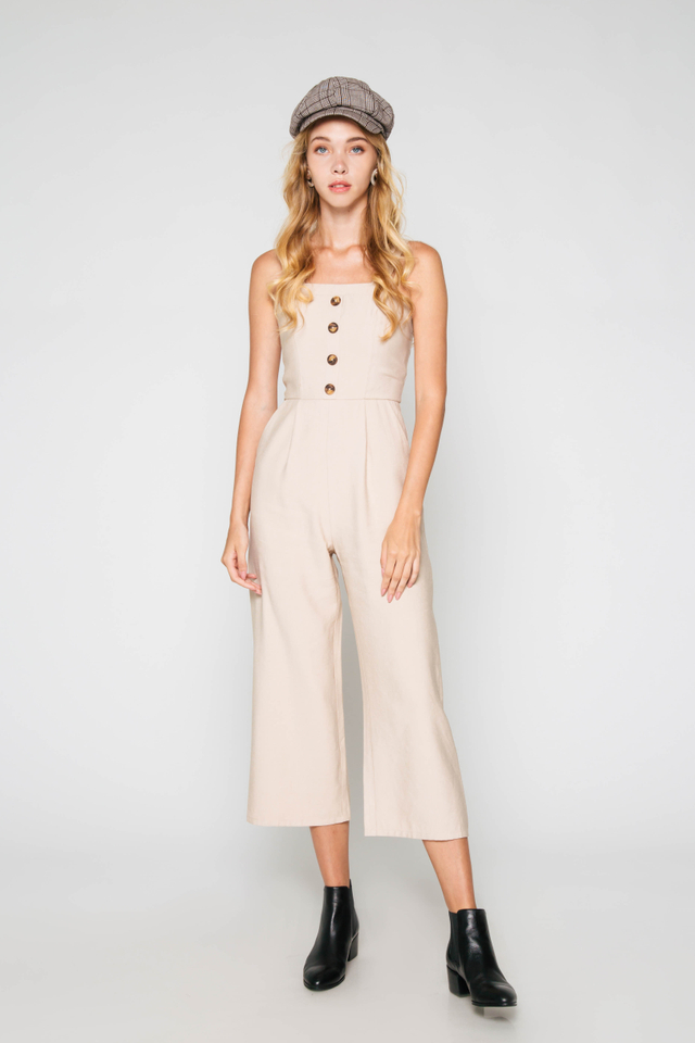 LANA BUTTON JUMPSUIT