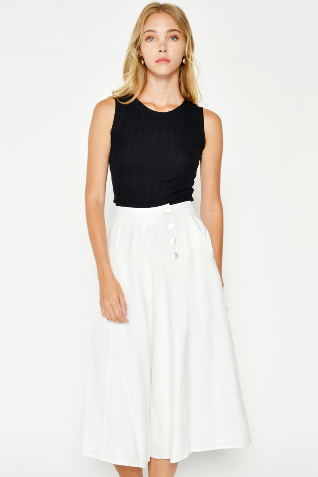 LELISA BUTTON WIDE LEG CULOTTES