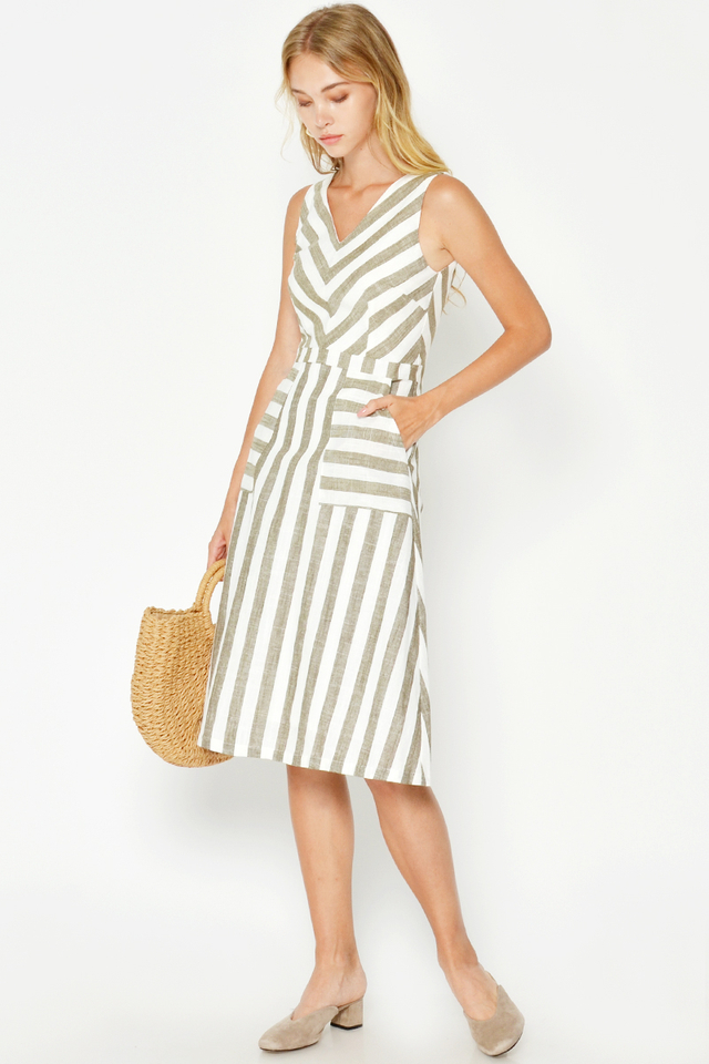 VERENE STRIPE DRESS