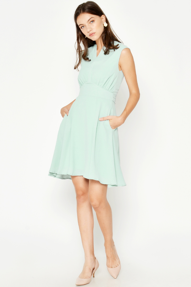 ALFIE RUCHED TIEBACK DRESS