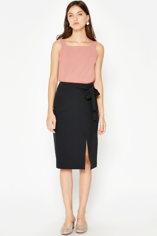 NALIA TIEWAIST PENCIL SKIRT