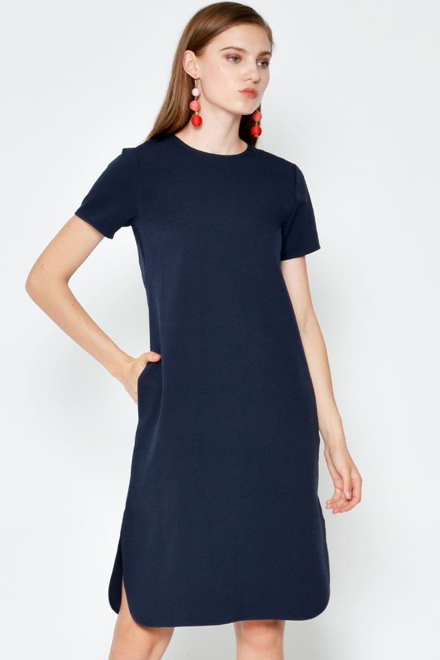 CYRUS CURVED HEM DRESS