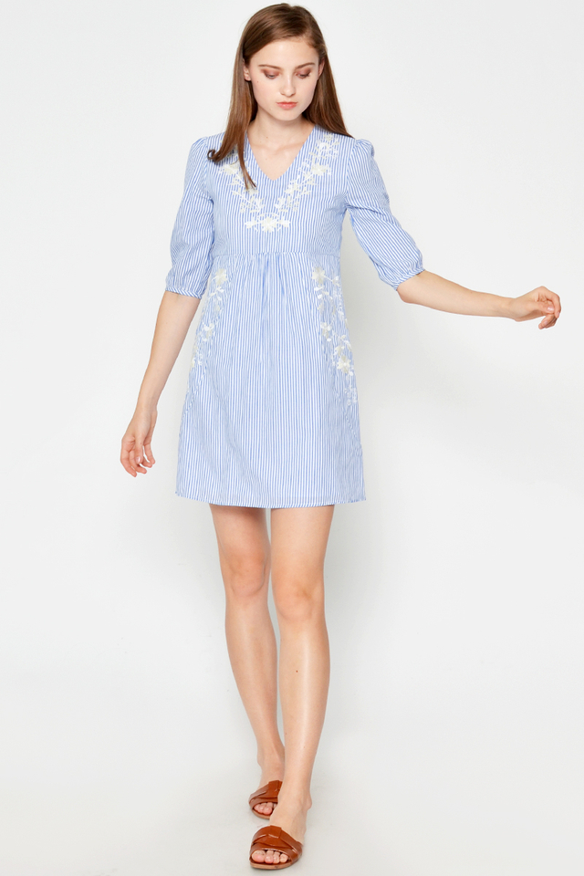 EPPERLY EMBROIDERED DRESS