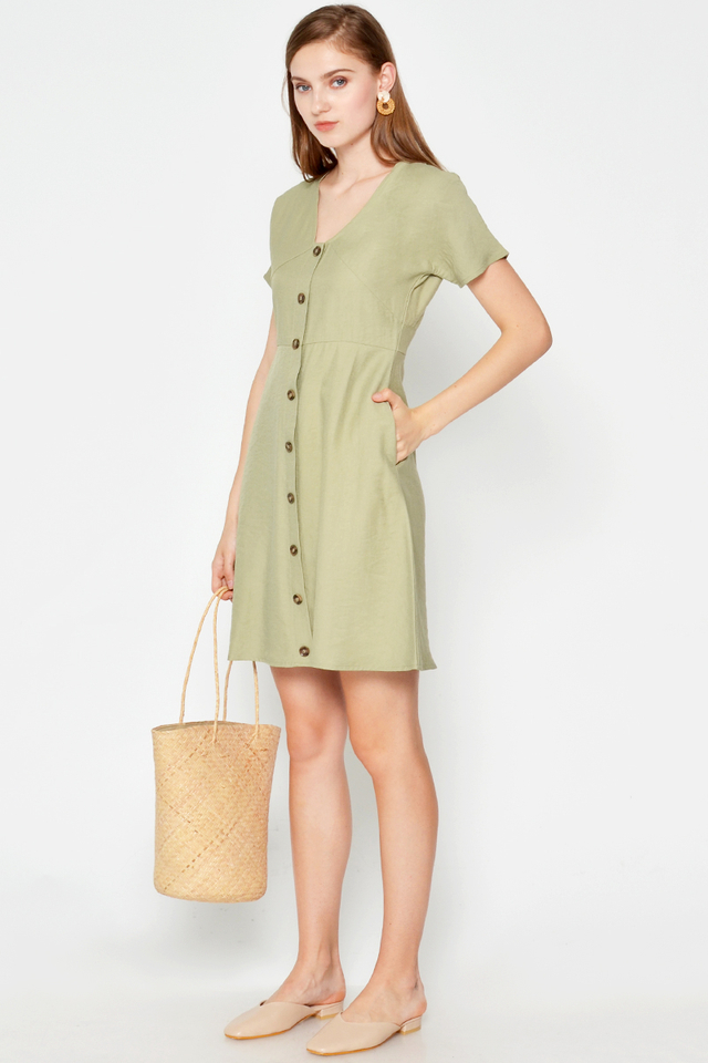 GRACIE BUTTONDOWN DRESS