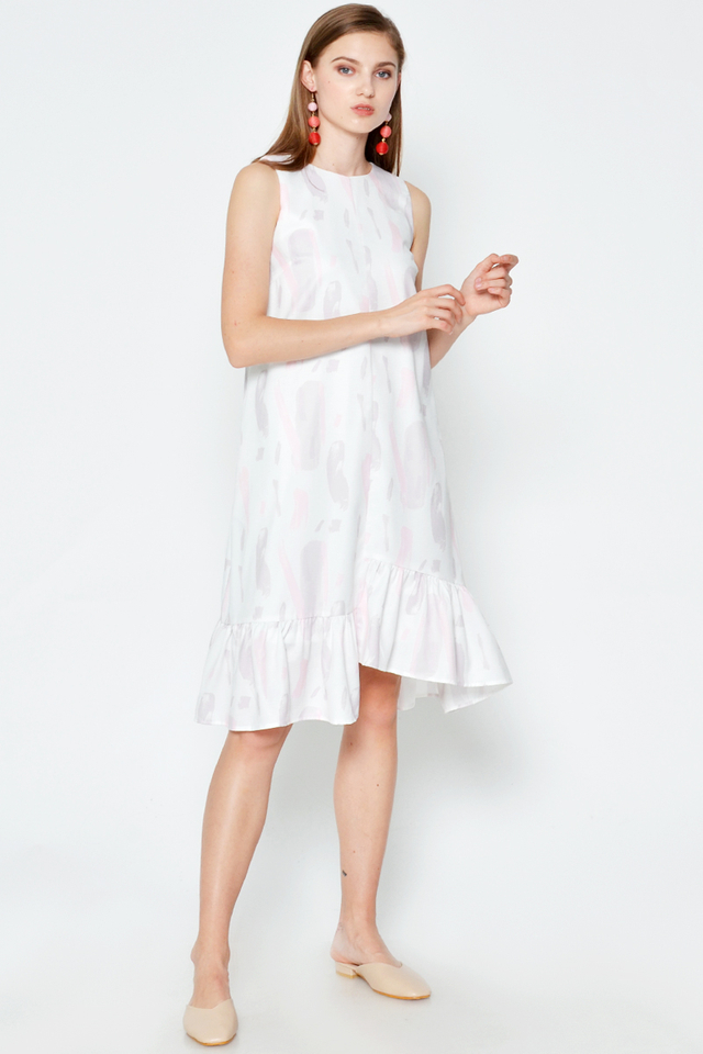 MYLA PAINTSTROKES HIGH-LOW DRESS