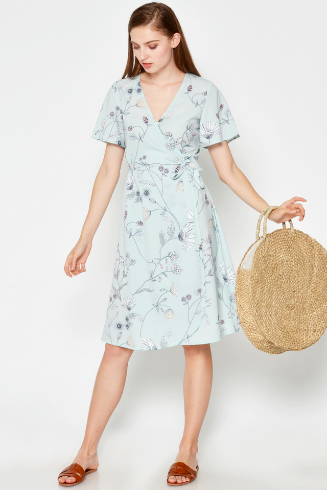 NATALIA FLORAL WRAP DRESS