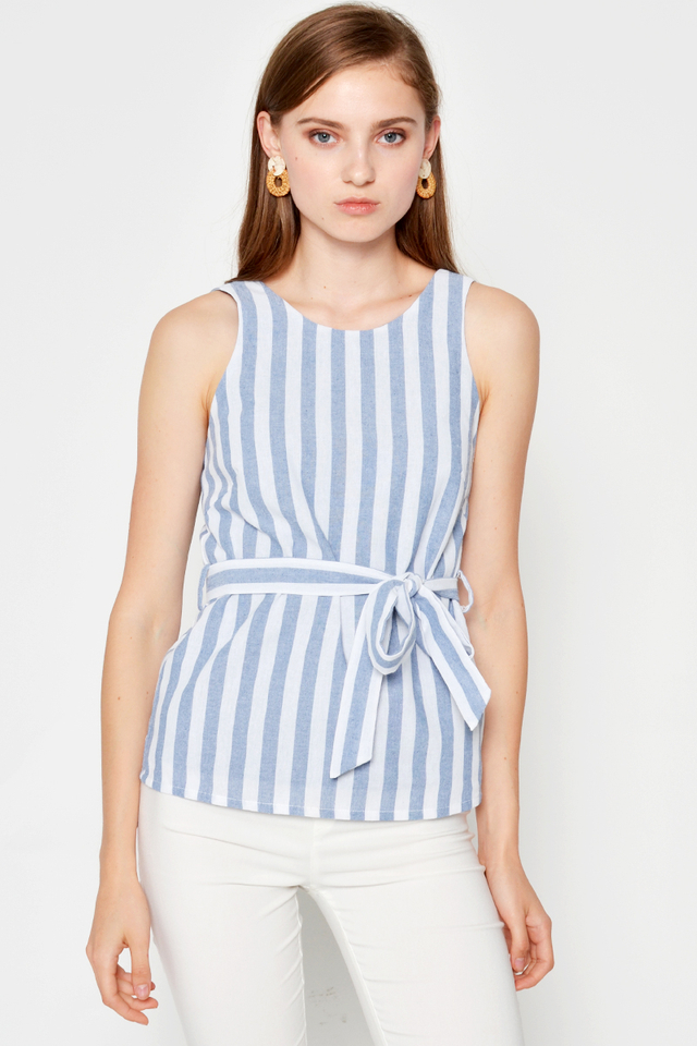 TROY STRIPE TOP W SASH