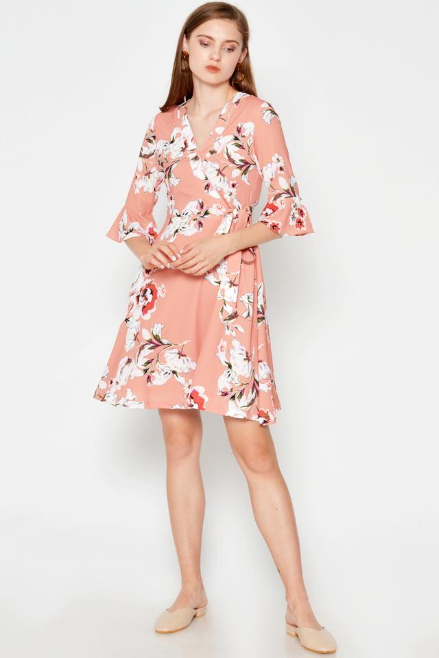 MONITA FLORAL WRAP DRESS