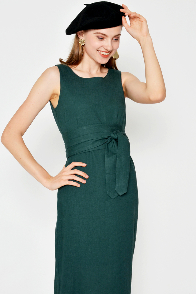 NOAH LINEN OBI BELT DRESS