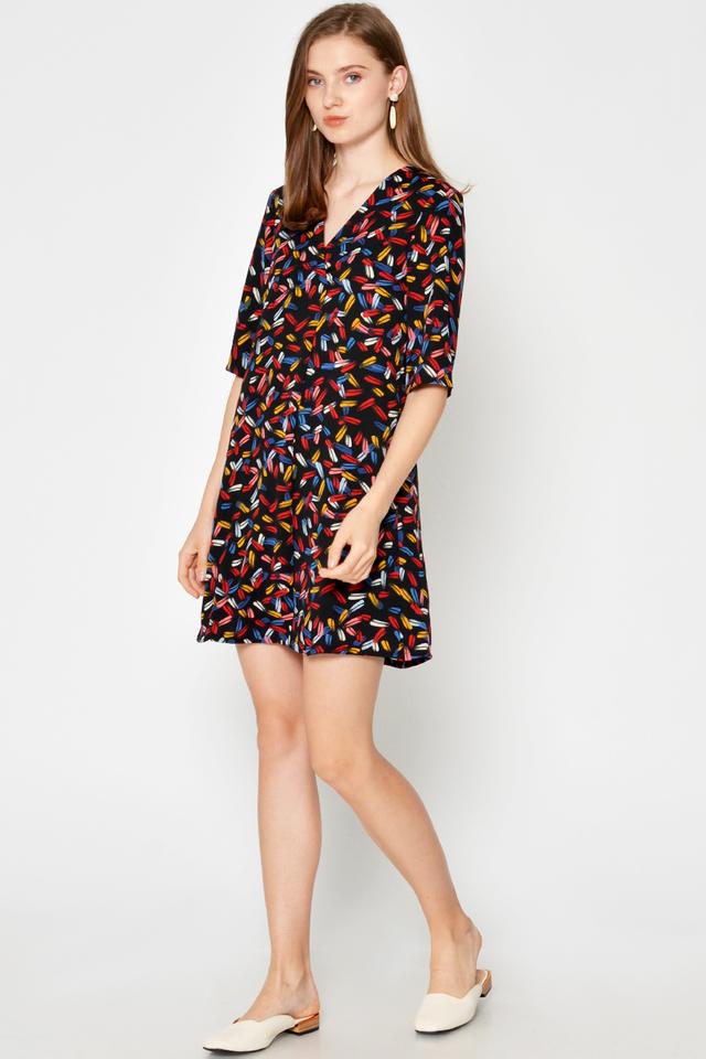 ELANIA PAINTSTROKES DRESS