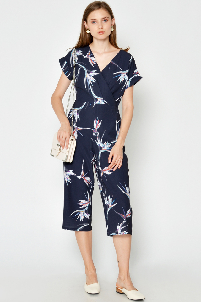 KAYLIN HELICONIA WRAP JUMPSUIT