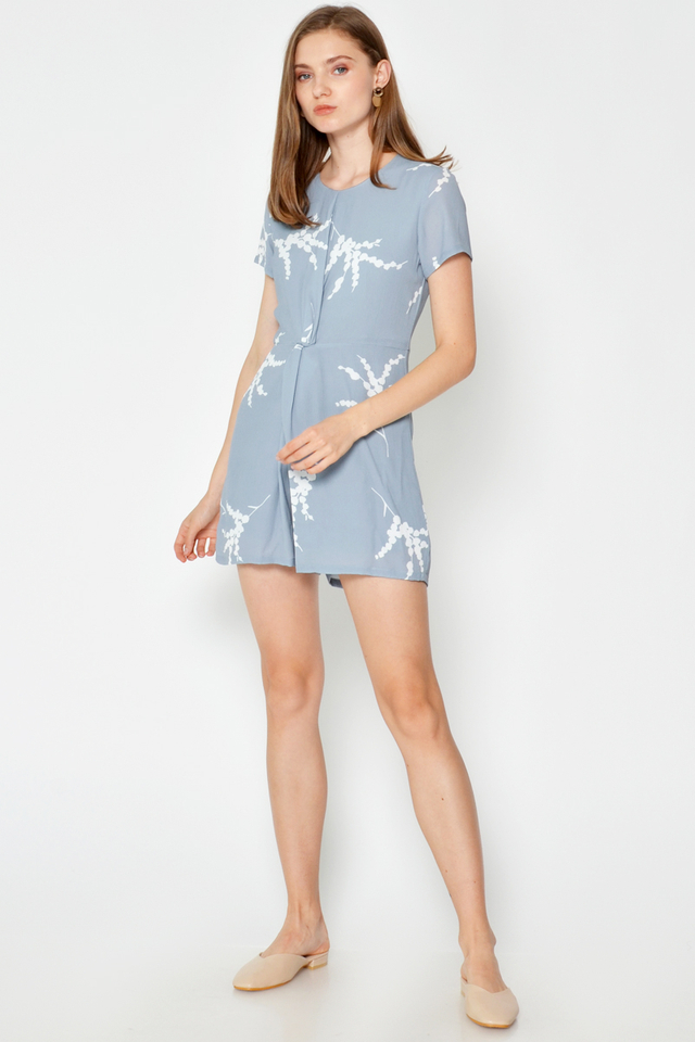 KIMMIE TWISTED KNOT ROMPER