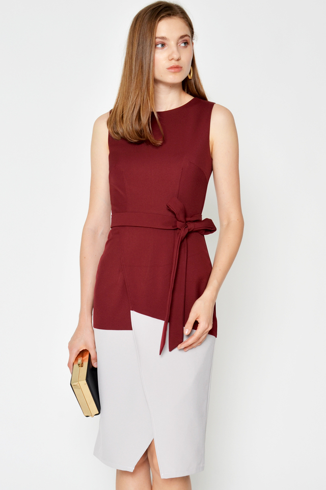 KYLOE COLOURBLOCK LAYERED DRESS W SASH