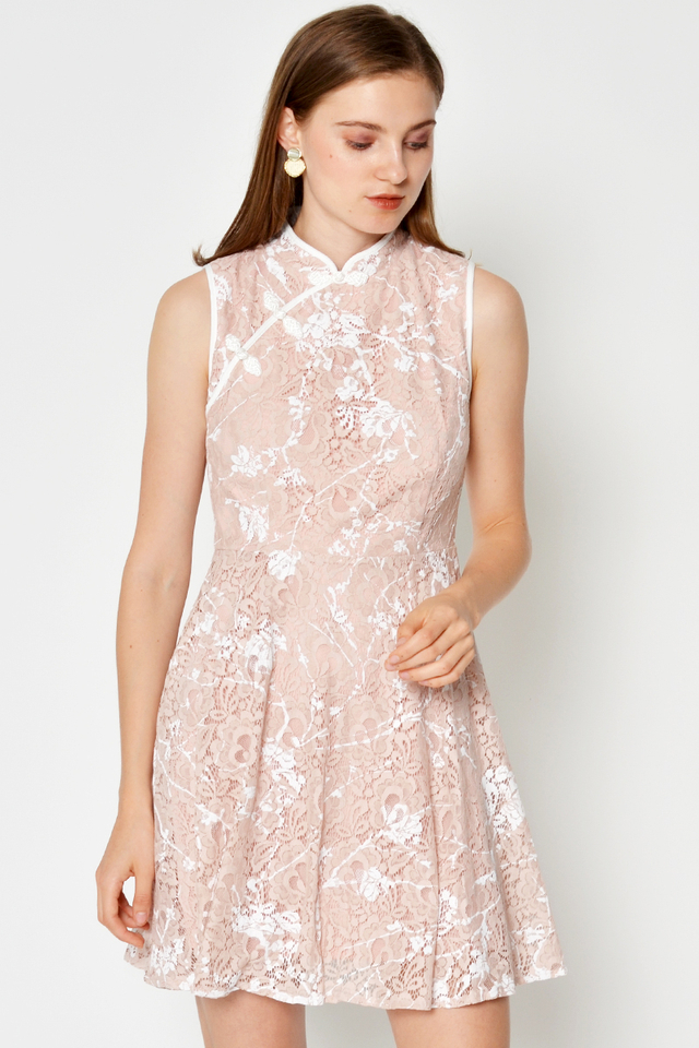 MIRA FLORAL LACE CHEONGSAM