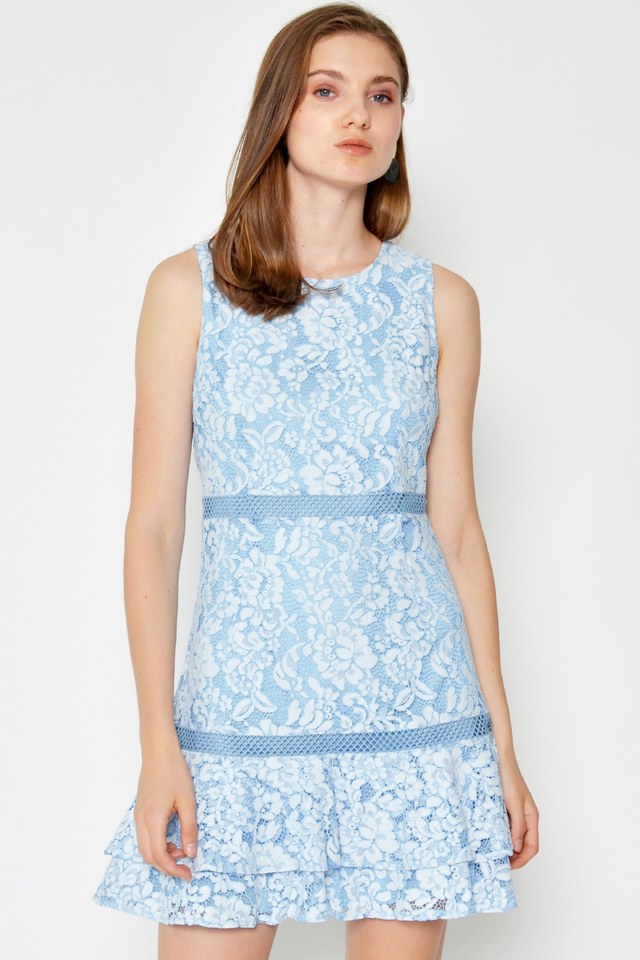 TISA FLORAL LACE DRESS