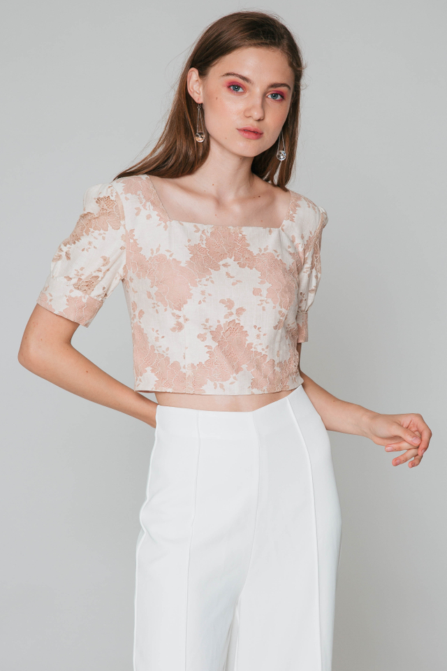 CELESTIA LACE CROP TOP