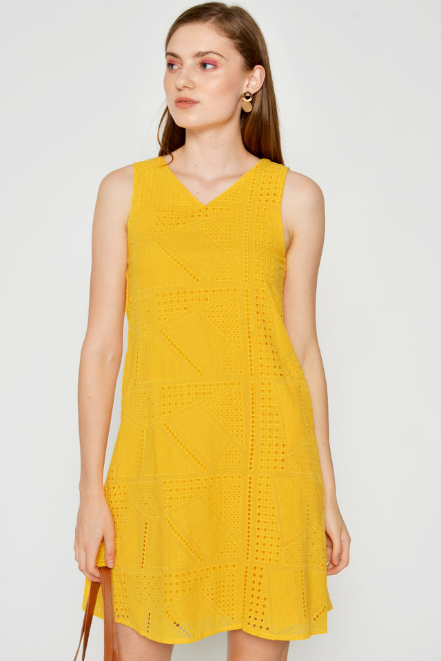 ISABELLE EYELET SHIFT DRESS