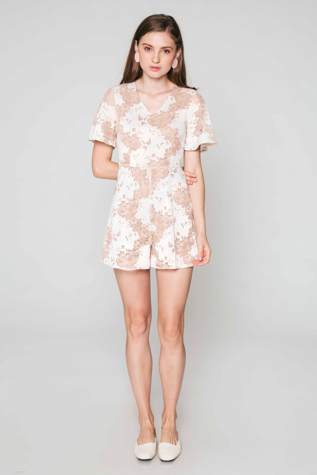 KHLOE FLORAL LACE PLAYSUIT