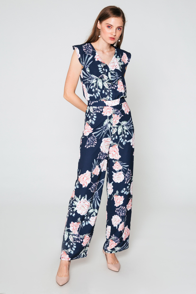 MIZO FLORAL PRINTED FLARE PANTS
