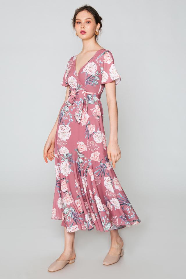 ROSELLA MAXI FLORAL WRAP DRESS