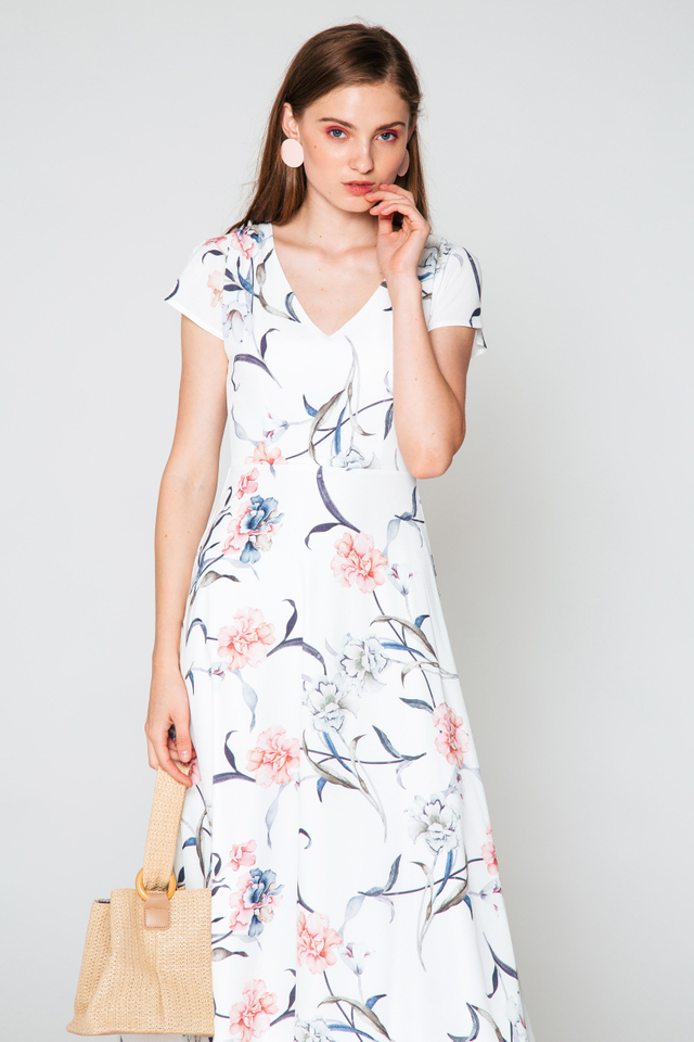 TRINA FLORAL MAXI DRESS