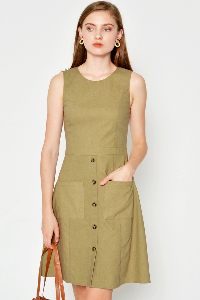 GOMEZ POCKET FLARE DRESS