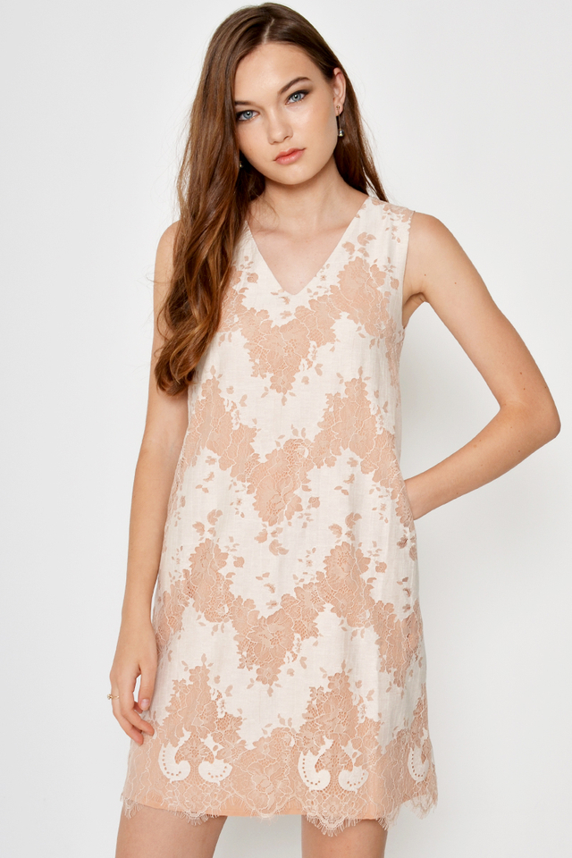 ELODIE LACE SHIFT DRESS