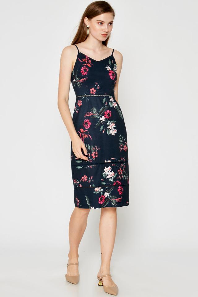 FLORENCIA FLORAL CUTOUT DRESS