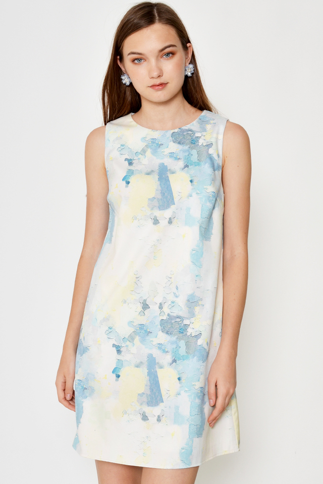 BRIGID WATERCOLOUR SHIFT DRESS