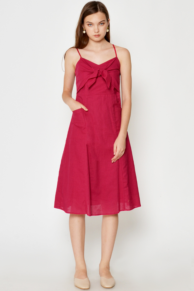 GIARA TIE FRONT POCKET DRESS
