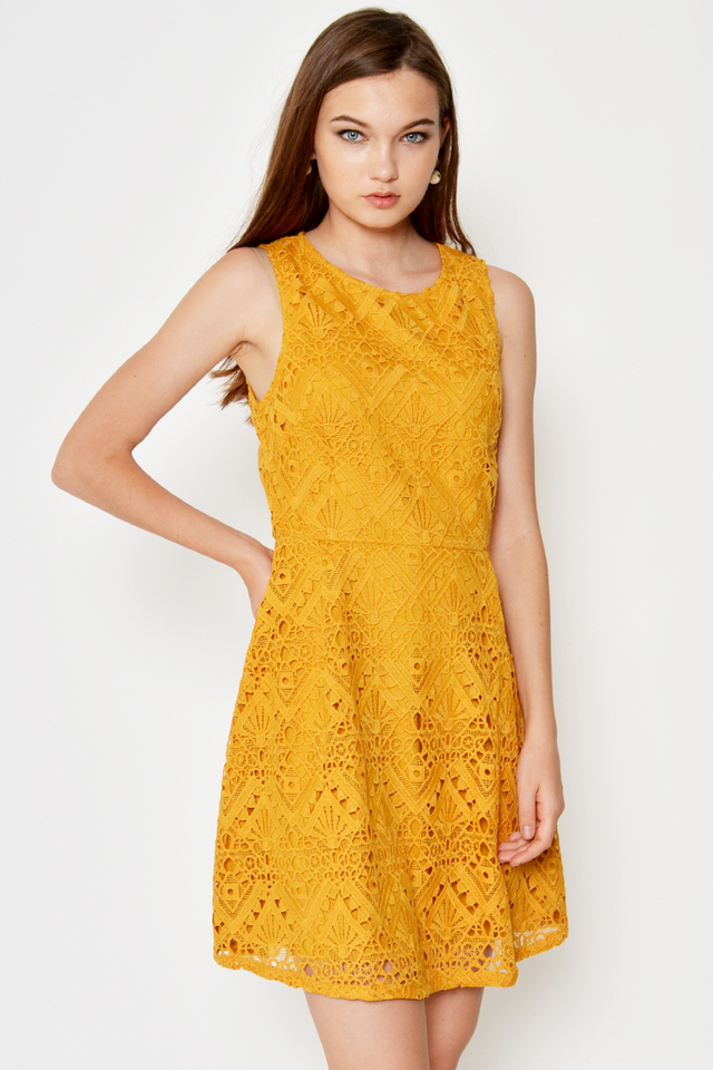 MABEL CROCHET FLARE DRESS