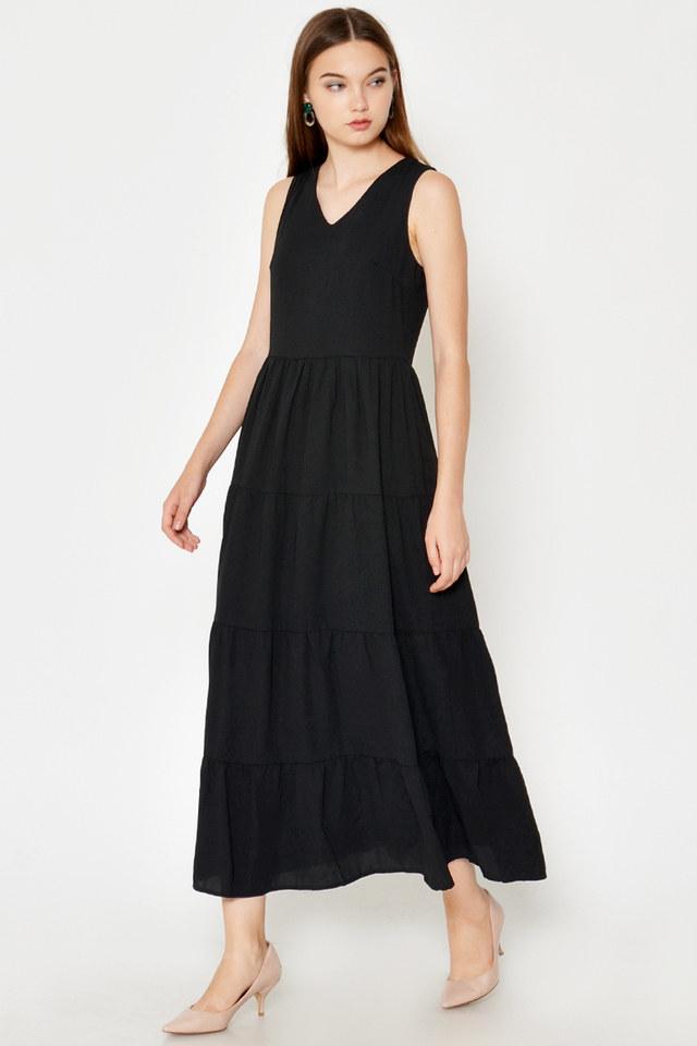 EVERLY TIERED MAXI DRESS
