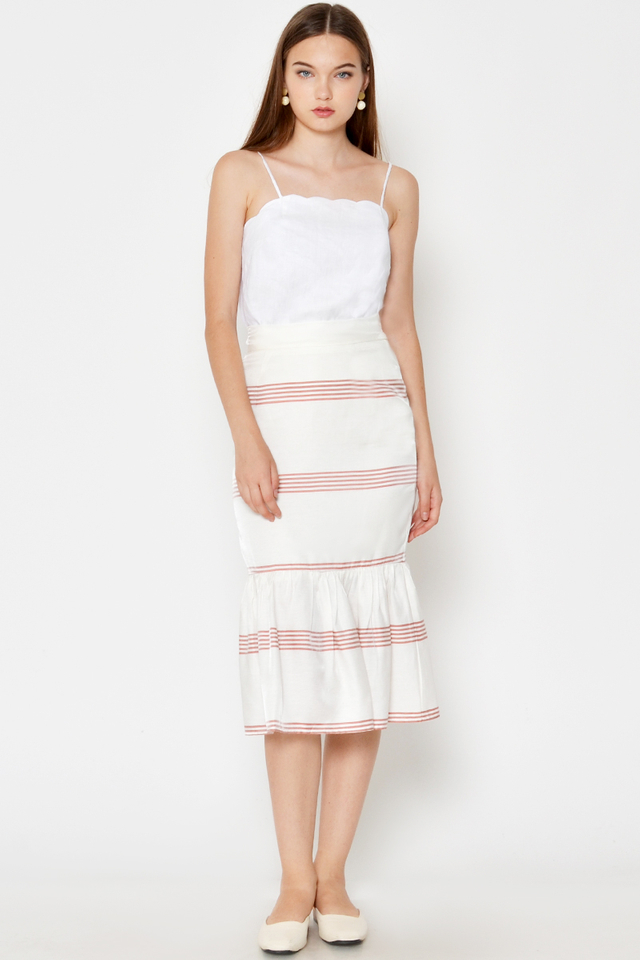 LUCIDA STRIPE MERMAID SKIRT