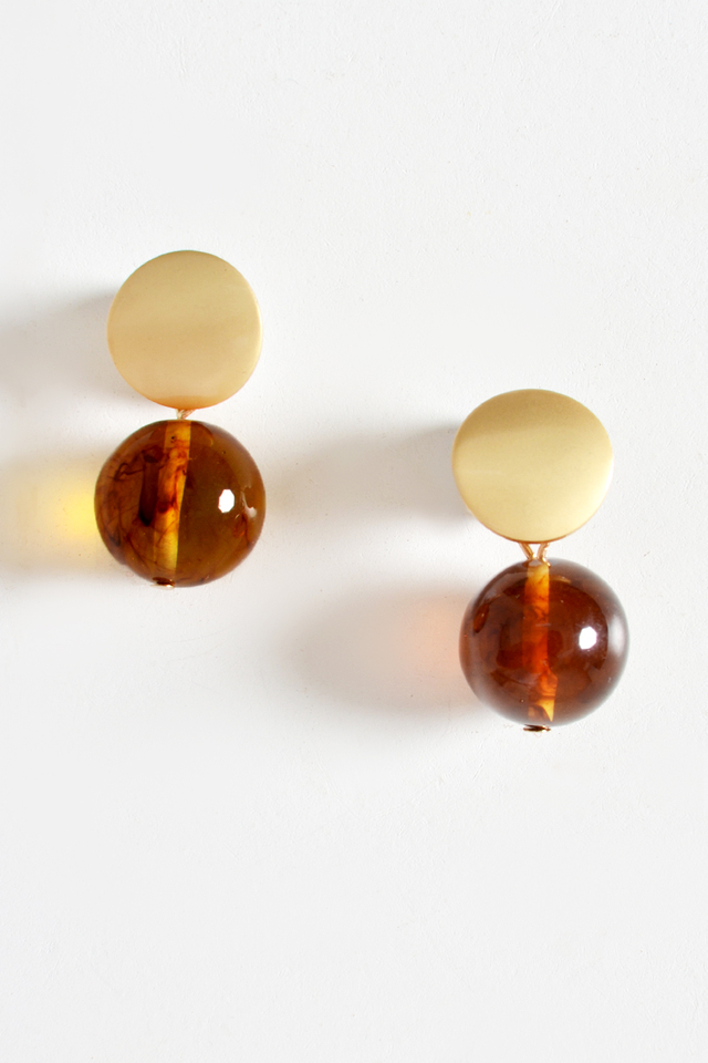 MARBLE PLUTO DROP EARRINGS