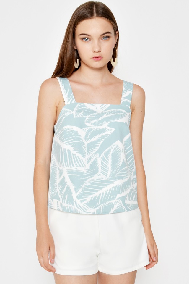 ALESSIA LEAF PRINTED TOP