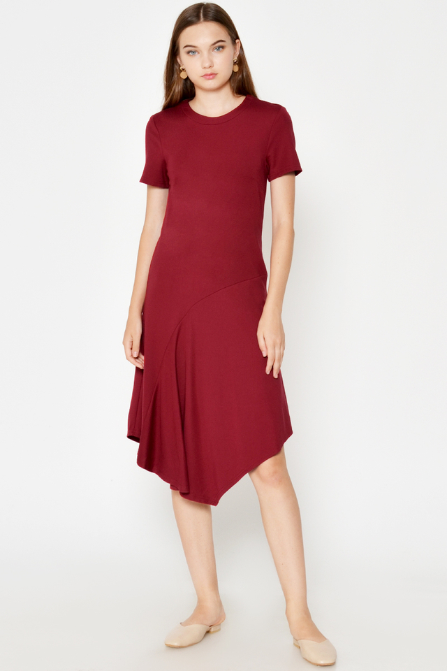 CORDYN HANDKERCHIEF MIDI DRESS