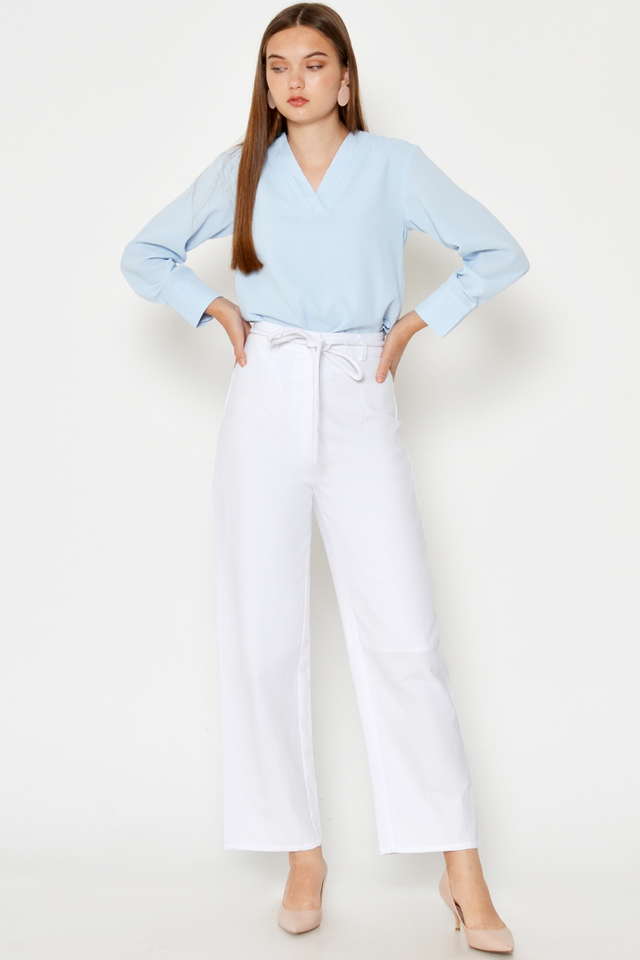 LEIGH HIGHWAISTED PANTS W SASH