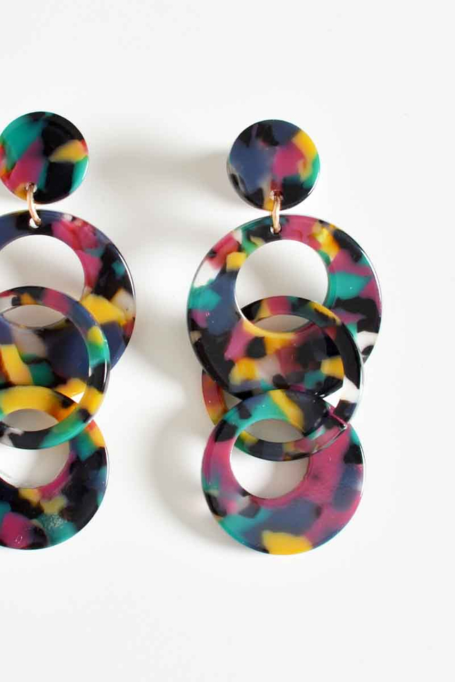 RAINBOW LOOP DROP EARRINGS