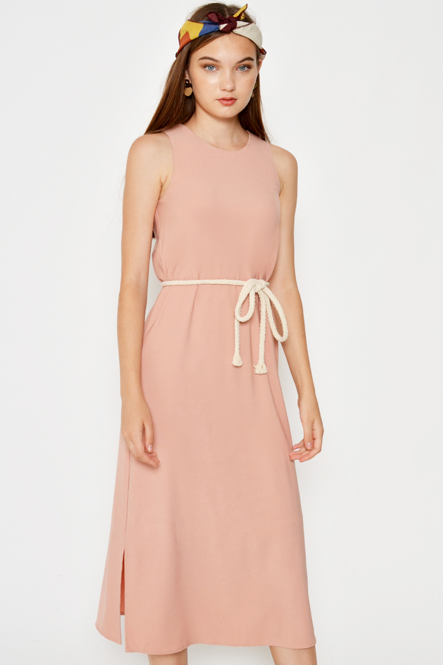 VERLAINE MIDI DRESS W ROPE SASH