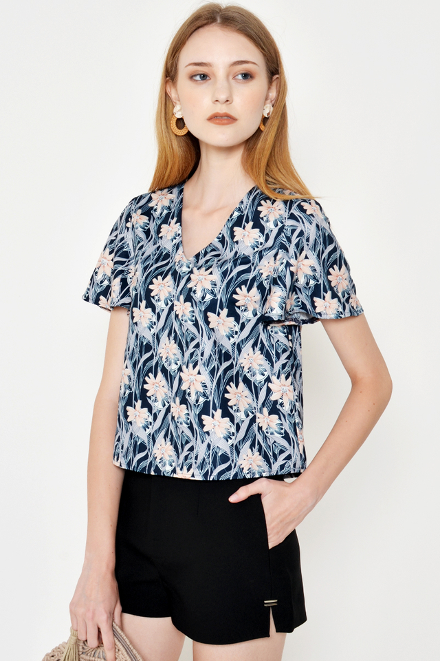 ANDRINA FLORAL TOP